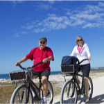 couple riding a bike together
